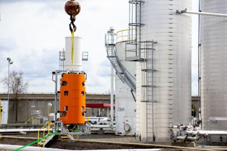 Autonomous robot safely performs in-service tank inspection